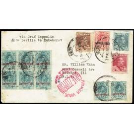 Graf Zeppelin A Estados Unidos ED. 295 [x8], 296, 321/323