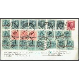 Graf Zeppelin A Estados Unidos ED. 295 [x14], 296 [x3], 321 [x6], 322