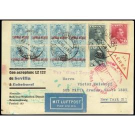 Graf Zeppelin A Estados Unidos ED. 294 [x8], 321 [x2], 322