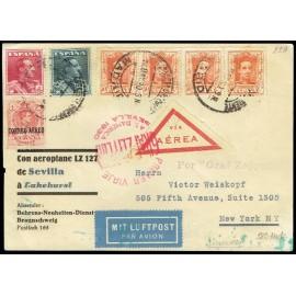 Graf Zeppelin A Estados Unidos ED. 296, 320 [x4], 321/322