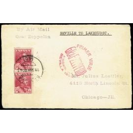 Graf Zeppelin A Estados Unidos ED. 322 [x2]