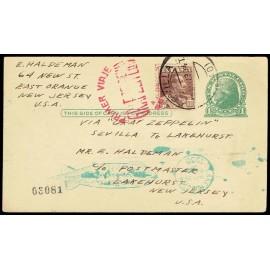 Graf Zeppelin A Estados Unidos ED. 323