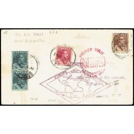 Graf Zeppelin A Cuba ED. 321 [x2], 322/323