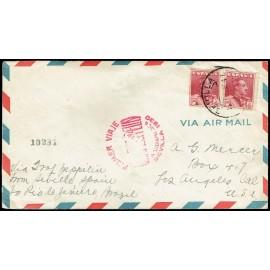Graf Zeppelin A Brasil y reexpedido a Estados Unidos ED. 322 [x2]