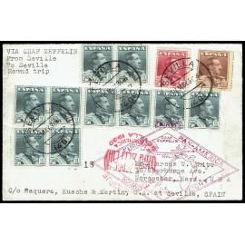 Graf Zeppelin De Sevilla A Sevilla ED. 321 [x10], 322/323