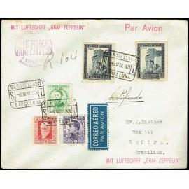 Graf Zeppelin No Recogido A Brasil ED. 494, 664, 667, 673 [x2]