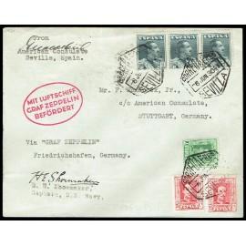 Graf Zeppelin A Alemania ED. 314, 317 [x2], 321 [x3]