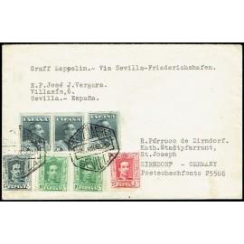 Graf Zeppelin A Alemania ED. 314 [x2], 315B,  317, 321 [x3]