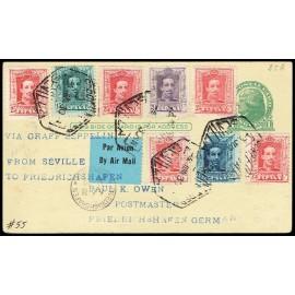 Graf Zeppelin A Alemania ED. 315/316, 317 [x5], 319