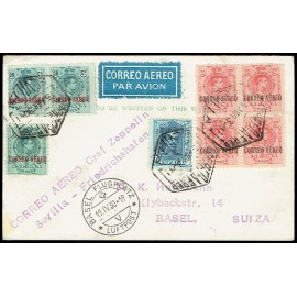 Graf Zeppelin No Recogido A Alemania ED. 292, 293 [x4], 295 [x2], 319