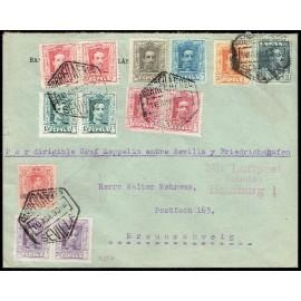 Graf Zeppelin No Recogido A Alemania ED. 293, 312 [x2], 315B [x2], 316 [x2], 317 [x2], 318/321