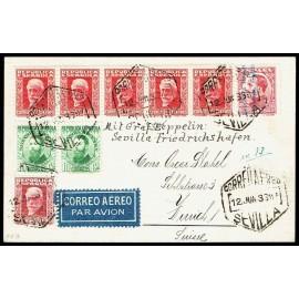 Graf Zeppelin No Recogido A Alemania ED. 599, 664 [x2], 667, 669 [x5]
