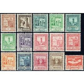 1935 ED. Andorra 28/36, 38/40, 42/44 * (2)