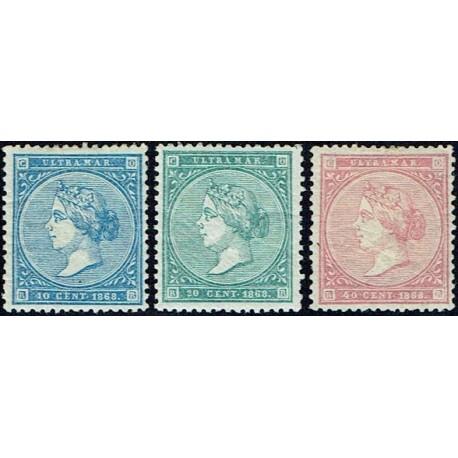 1868 ED. Antillas 13/15 *