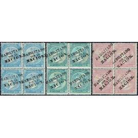 1868 ED. Antillas 13A/15A * [x4]