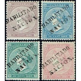 1868 ED. Antillas 13A/15A, Cuba 22A *