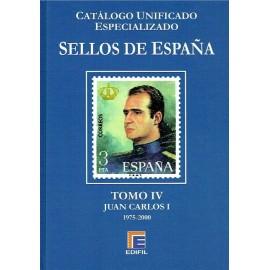 CATÁLOGO ESPECIALIZADO EDIFIL DE ESPAÑA TOMO IV JUAN CARLOS I 1975-2000