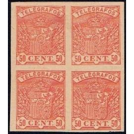 1901 ED. Telégrafos 35P (*) [x4]