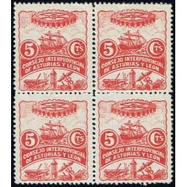 1937 ED. Asturias 03 ** [x4]