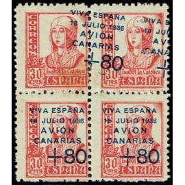 1937 ED. Canarias 15A + 15Ahdx * [x4]