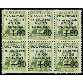 1937 ED. Canarias 16A + 16Ahe ** [x6]
