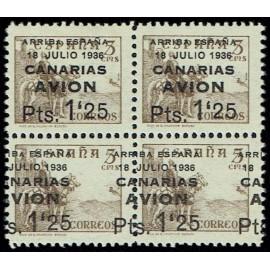 1937 ED. Canarias 22 + 22hdh ** [x4]