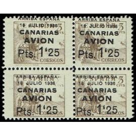 1937 ED. Canarias 22ra + 22r ** [x4]