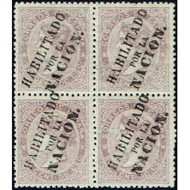 1868 ED. 092 * Madrid (N) [x4]