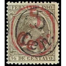 1896 ED. Fernando Poo 40hh *