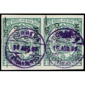 1898 ED. Fernando Poo 42c us [x2]