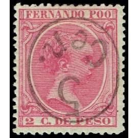 1896 ED. Fernando Poo 40Ahcchi *