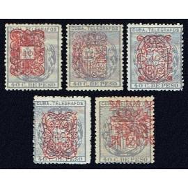 1883 ED. Cuba Telégrafos 58/62 * (2)