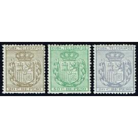 1884 ED. Cuba Telégrafos 63/65 **