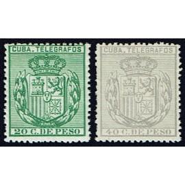 1888 ED. Cuba Telégrafos 66/67 **