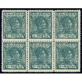 1907 ED. Río de Oro 30/31ec ** [x6]