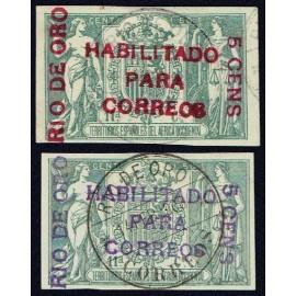 1908 ED. Río de Oro 40A/40B us