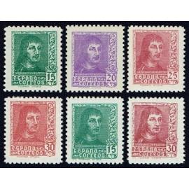 1938 ED. 841/844, 841A, 844A ** (3)