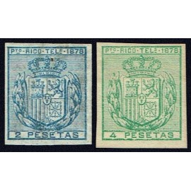 1878 ED. Puerto Rico Telégrafos 17s/18s *