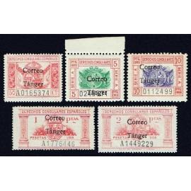1938 ED. Tánger 142/146 **