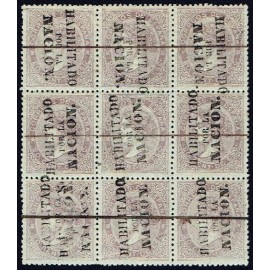 1868 ED. 092 + 092hi us Madrid (N) [x9]