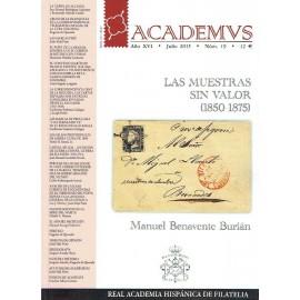 ACADEMVS 2015/19 - LAS MUESTRAS SIN VALOR (1850-1875)