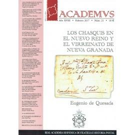 ACADEMVS 2017/21 - LOS CHASQUIS EN EL NUEVO REINO Y EL VIRREINATO DE NUEVA GRANADA