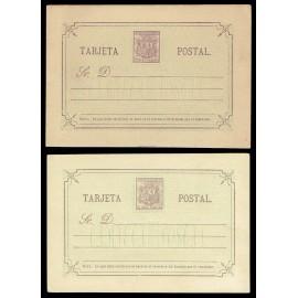 1875 ED. 7/7A * Tarjetas Entero Postales