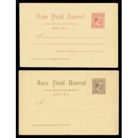 1889 ED. 21/22 * Tarjetas Entero Postales
