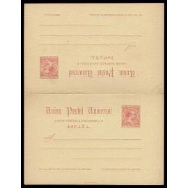 1889 ED. 23 * Tarjetas Entero Postales