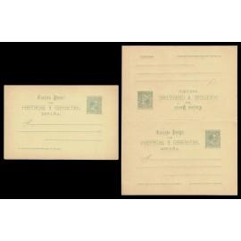1890 ED. 25/26 * Tarjetas Entero Postales