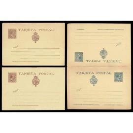 1890 ED. 27/27A/28 * Tarjetas Entero Postales