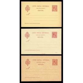 1892 ED. 31/31A/31B * Tarjetas Entero Postales
