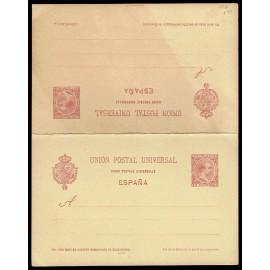 1892 ED. 33ca * Tarjetas Entero Postales