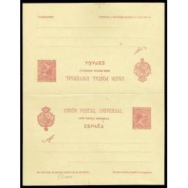 1892 ED. 33A * Tarjetas Entero Postales